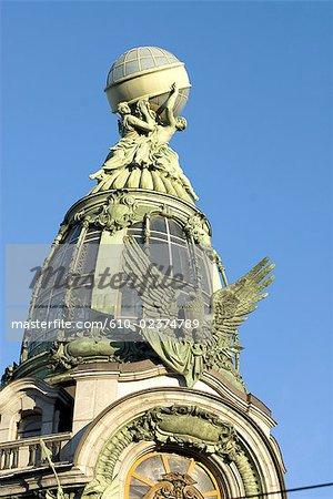 Russie, Saint-Pétersbourg, Nevsky Prospekt, détails architecturaux.