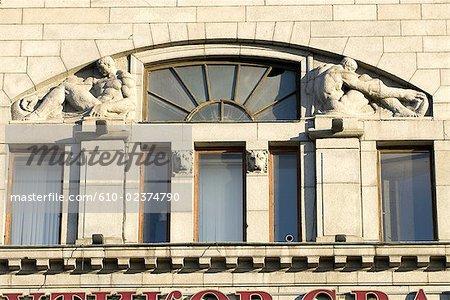 Russie, Saint-Pétersbourg, Nevsky Prospekt, façade.