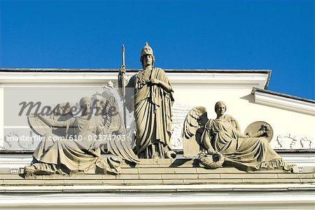 Russia, St Petersburg, statues.