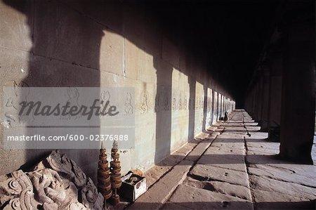 Architecture détaillée, Angkor Wat, Siem Reap, Cambodge