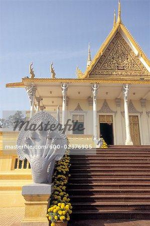 Salle du trône, Palais de Royal Phnom Penh, Phnom Penh, Cambodge