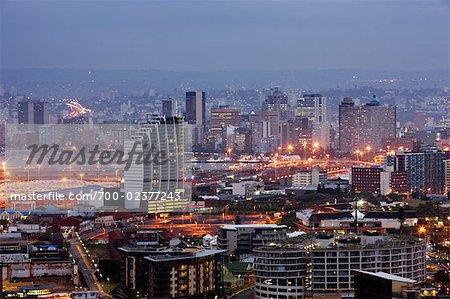 Point de nouveaux immeubles d'habitation à Durban Waterfront, Durban, KwaZulu Natal, Afrique du Sud
