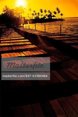 Boardwalk on the sea, Islamorada, Florida Keys, Monroe County, Florida, USA