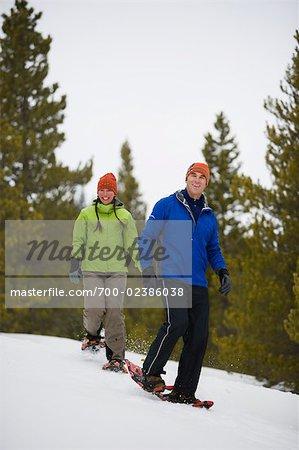Couple de la raquette, Breckenridge, Colorado, USA