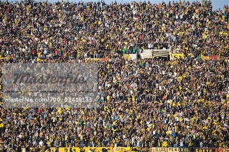 Fußball-Fans im Centenario Stadium, Montevideo, Uruguay