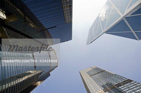 Tours d'habitation dans le centre-ville de Hong Kong, Chine