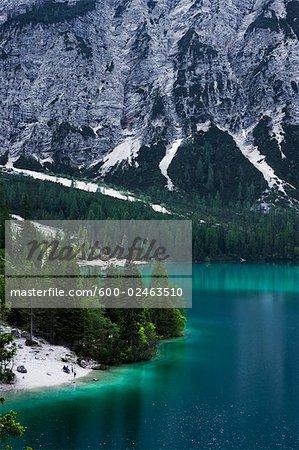 Lago di Braies et Dolomites, Tyrol du Sud, Italie