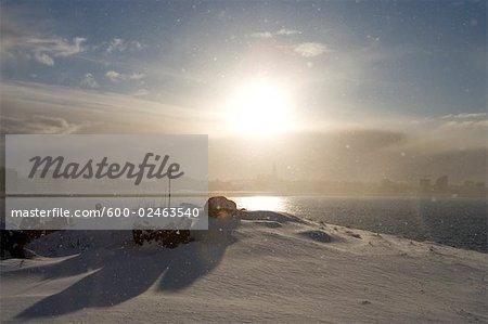 Winter Sun in Reykjavik, Iceland