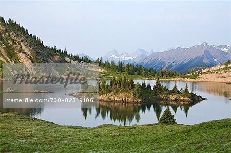 Rock Isle Lake, Sunshine Meadows, Banff National Park, Alberta, Canada
