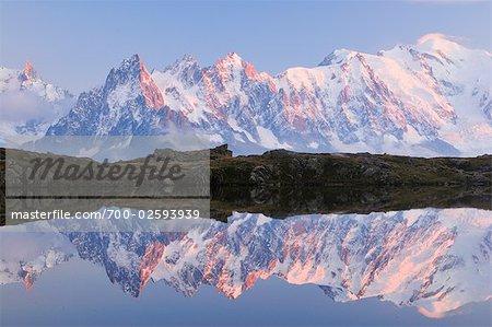 Aiguilles de Chamonix, Mont Blanc and Lacs de Cheserys, Chamonix, France
