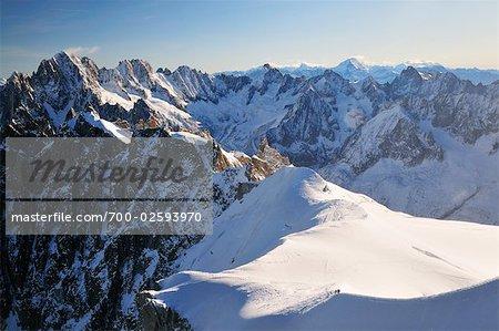 Aiguille Verte and Grandes Jorasses from Aiguille du Midi, Chamonix, France