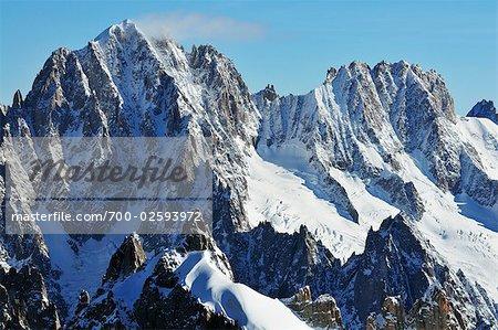 Aiguille Verte depuis l'Aiguille du Midi, Chamonix, France