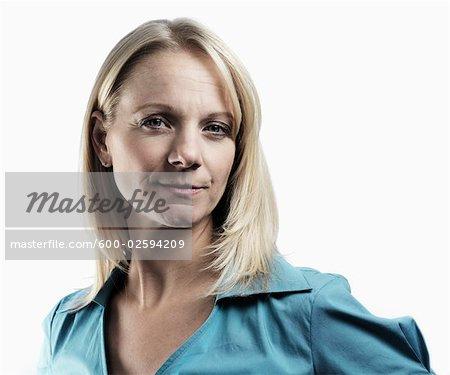 Portrait of Woman in Studio