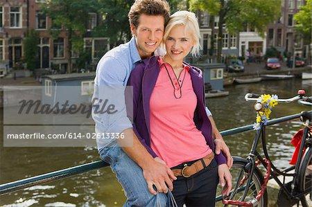 Couple à amsterdam