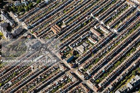 Vue aérienne de maisons de brighton