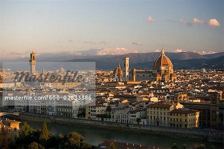 Duomo. Palazzo Vecchio, Florence, Toscane, Italie