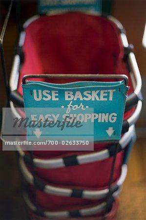 Old-fashioned Shopping Baskets, Calistoga, California, USA