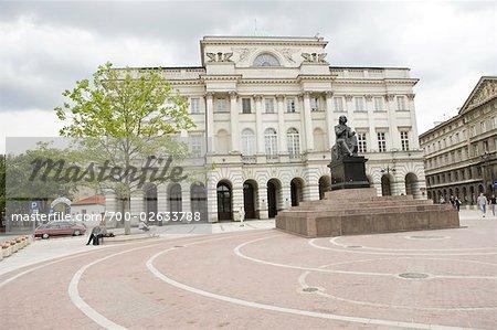 Statue de Copernic, Aleje Jerozolimskie, Varsovie, Pologne