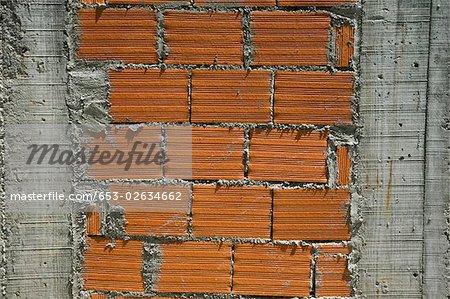 Zement und Ziegel Wand