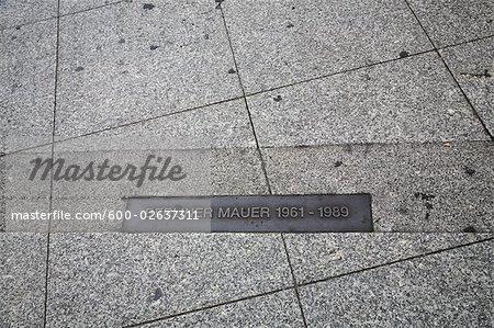 Berlin Wall Sign, Berlin, Germany