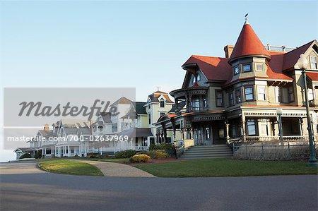 Gingerbread Houses, Oak Bluffs, Martha's Vineyard, Massachussets. USA