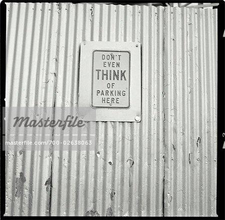No Parking Sign, Coney Island, Brooklyn, New York, USA