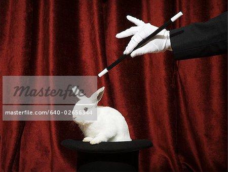 Tirer un lapin d'un chapeau.