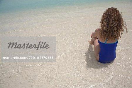 Femme à la plage, Jamaïque