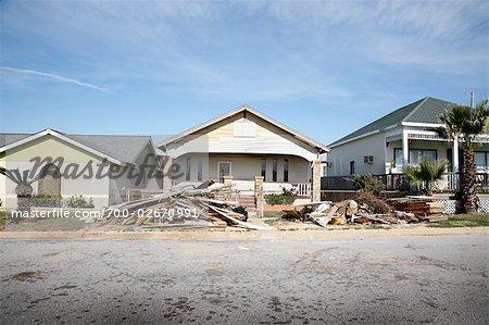Conséquences de l'ouragan Ike, Galveston, Texas, USA