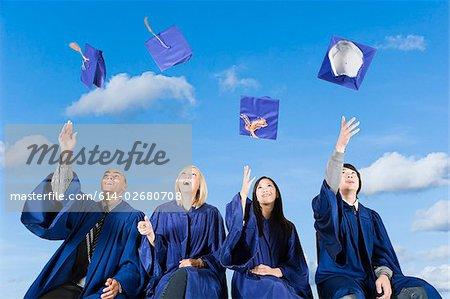 Graduating high school students
