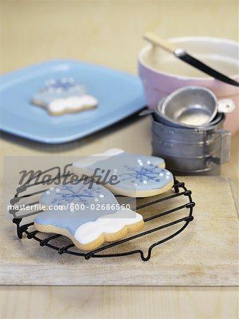 Christmas Cookies on Baking Table