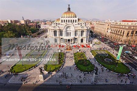 Palacio de Bellas Artes, au crépuscule, Mexico City, Mexique