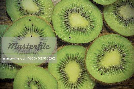 Nahaufnahme der Kiwi-Scheiben