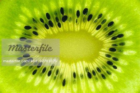 Nahaufnahme der innerhalb der Kiwi-Frucht