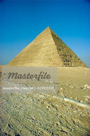 Pyramide de Khéphren, Gizeh, en Egypte, en Afrique du Nord