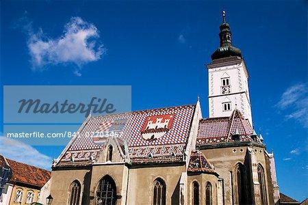 Église, Zagreb, Croatie, Europe Saint-Marc