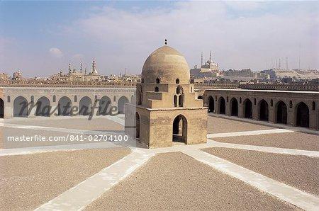 Ibn Tulun mosquée, Site du patrimoine mondial de l'UNESCO, le Caire, Egypte, Afrique du Nord, Afrique