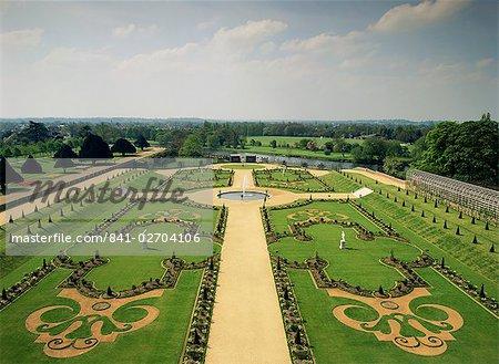 Le jardin privé, Hampton Court Palace, Greater London, Angleterre, Royaume-Uni, Europe
