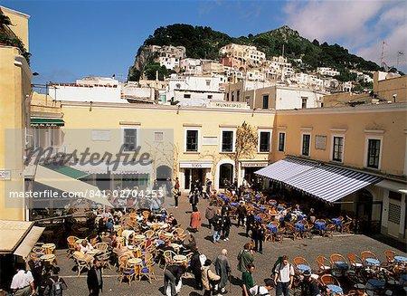 La Piazzetta, Capri Town, Capri, Campania, Italy, Europe