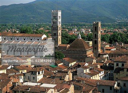 Vue de Torre del Ore, Lucca, Toscane, Italie, Europe