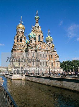 Église de déversement sang, Site du patrimoine mondial de l'UNESCO, Saint-Pétersbourg, en Russie, Europe