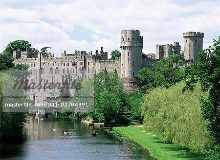 Château de Warwick, Warwick, Warwickshire, Angleterre, Royaume-Uni, Europe