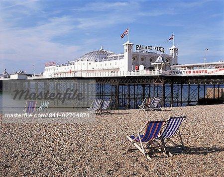 Palace Pier, Brighton, East Sussex, Angleterre, Royaume-Uni, Europe