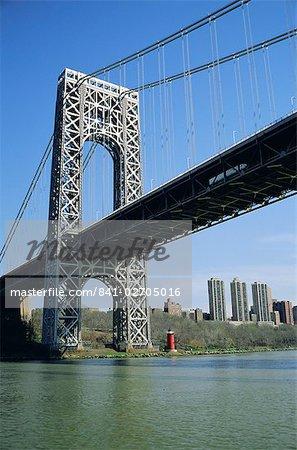 George Washington Bridge et Little Red Lighthouse, New York, États-Unis d'Amérique
