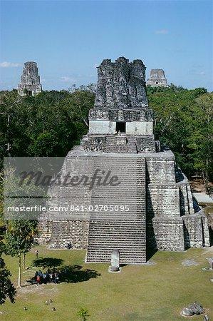 Temple II, site archéologique Maya, Tikal, au Guatemala, l'Amérique centrale