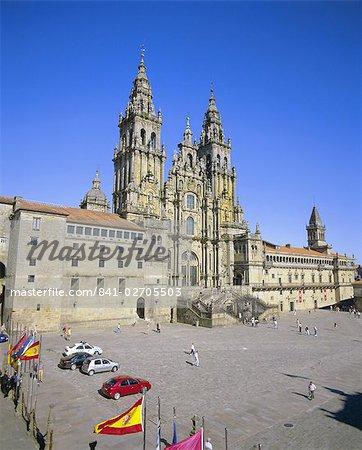 Catedral del Apostol, the cathedral, Santiago de Compostela, UNESCO World Heritage Site, Galicia, Spain, Europe