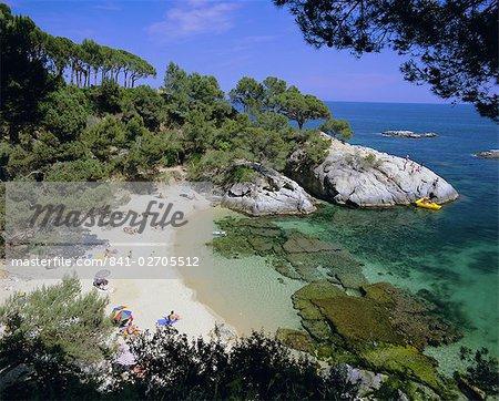Paysage typique de Costa Brava près de S'Agaro, Costa Brava, Catalogne a (Catalunya), Espagne, Europe