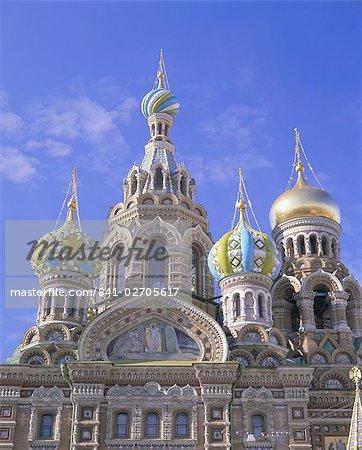 Eglise sur le sang répandu (église de la Résurrection), patrimoine mondial de l'UNESCO, Saint-Pétersbourg, Russie, Europe
