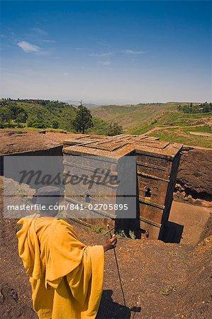 The Sunken Rock Hewn church of Bet Giyorgis (St George), Lalibela, Northern Ethiopia, Ethiopia, Africa