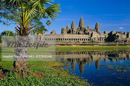 Angkor Wat, temple dans la soirée, Angkor, Siem Reap, Cambodge